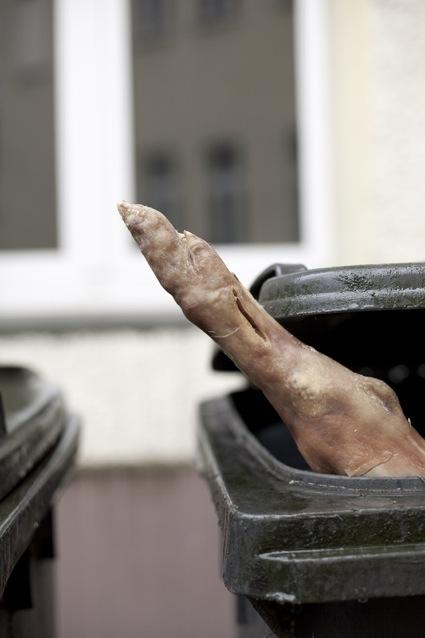Fleisch mit Gesicht: weggeworfenes Fleisch