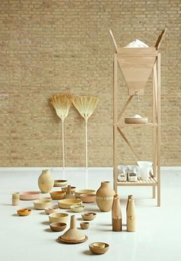 ueberland01.formafantasma Vasen aus Getreide und Bio Abfällen