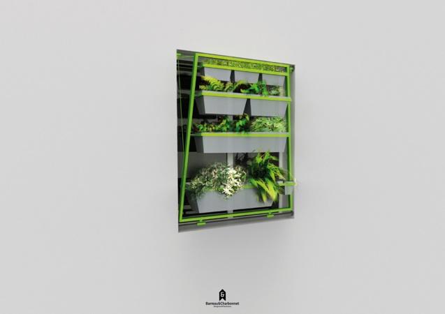 ueberland02.barreaucharbonnet Ein Blumenbeet im Fenster