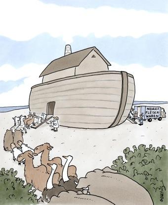 Noahs Fleischwaren Einzug der Tiere