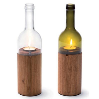 Weinflasche Kerze