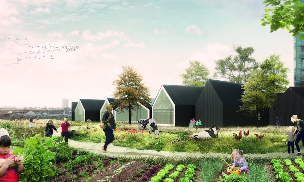 Schule und Bauernhof