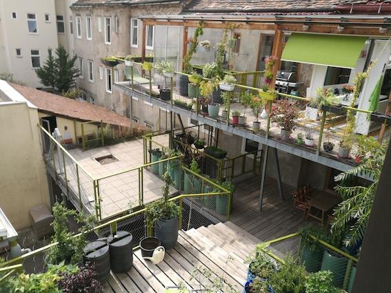Es ist eine ganz besondere Fabrik: Hier wird mitten in der Stadt produziert, im Innenhof offenbart sich ein über Terrassen angelegter Urban Garden und eigene Bienenstöcke sorgen für die Bestäubung.