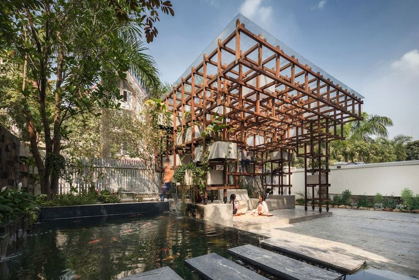 Aquaponic Farming Architects VAC Bibliothek Hanoi