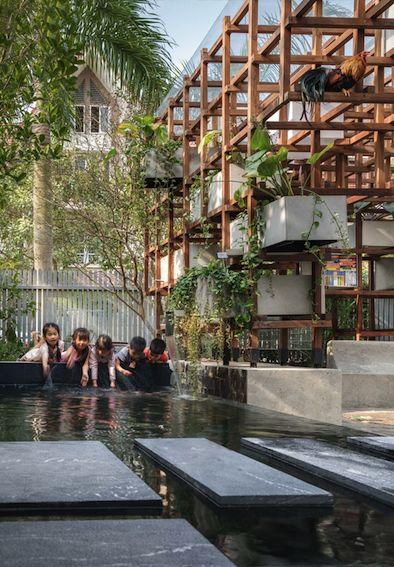 Farming Architects aquaponic Hanoi Vac Bibliothek