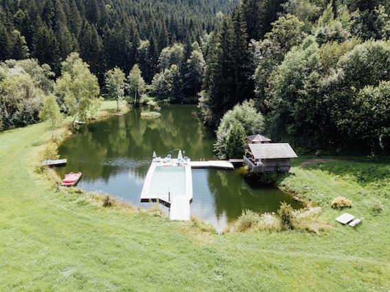 Auszeit am Bauernhof in Kärnten, Badesee